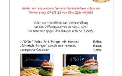 Burger Days 2021!! Freitag und Samstag!