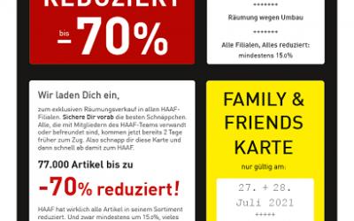 SCHUH+SPORT HAAF Räumungsverkauf!!!